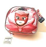 Girls Boys Toddlers Back to School Lunchbox Cooler Bag Bundle with Bonus 10 Pack Pencil Sharpener Scissors Crazy 8 Card Game-PJ Masks Pink Owlette