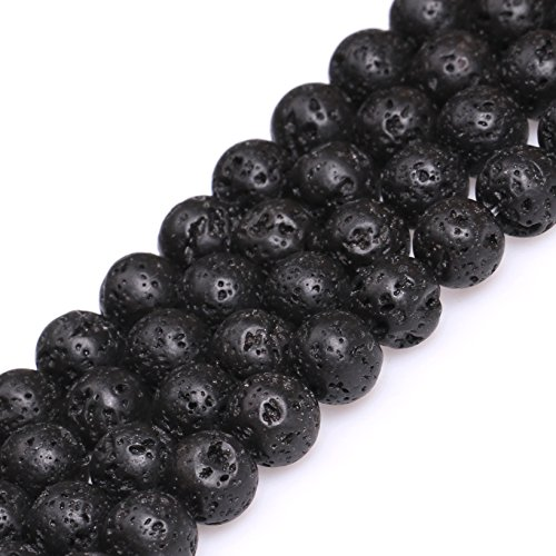 Joe Foreman Lava Rock Beads for Jewelry Making Natural Gemst