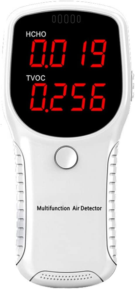 KKmoon Air Quality Tester Monitor for Formaldehyde HCHO TVOC, LED Digital Display Meters Tester, Mini Gas Analyzer Precise and Intelligent Detection