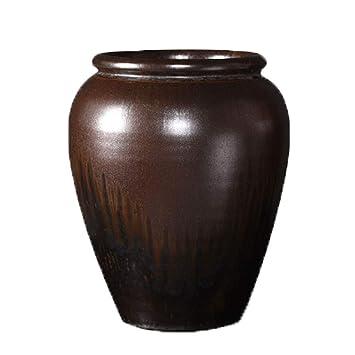 Amazon.com: Jarrón de cerámica retro de cerámica para ...