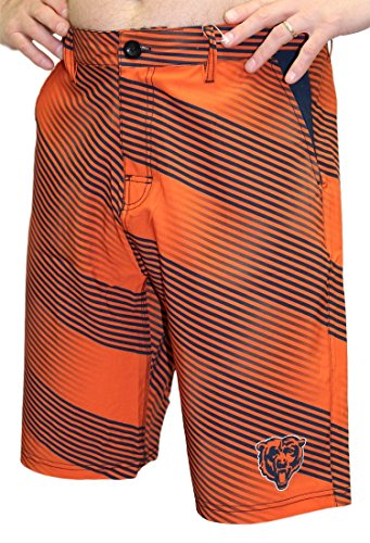 (FOCO NFL Chicago Bears Diagonal Stripe Walking Shorts, Team Color, X-Large/Size 38)