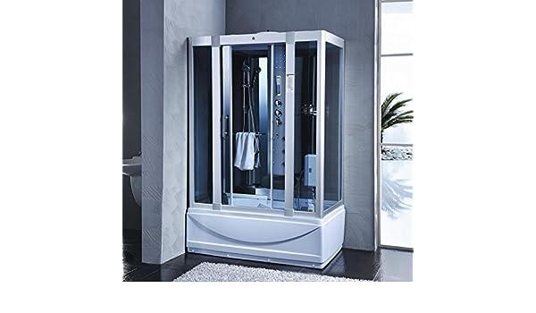 Baño Italia cabina y bañera hidromasaje 135 x 80 6 chorros con sauna baño turco radio FM 12 I: Amazon.es: Bricolaje y herramientas