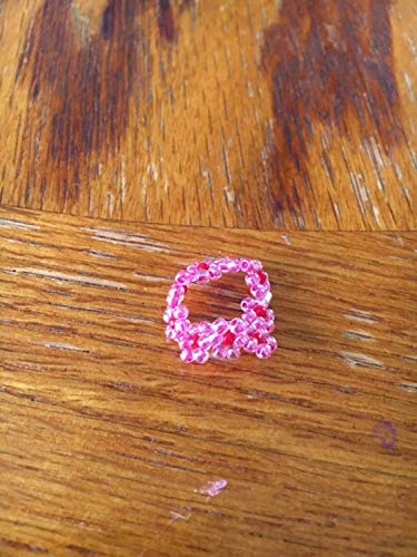 Daisy flower ring, Flower toe ring, beaded toe ring, stretch ring, flex ring, green ring, knuckle ring, stretchy - Ring Daisy Stretch
