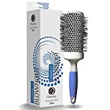 ion round hair brush - Professional Round Brush for Blow Drying – Large Ceramic Ion Thermal Barrel Brush for Sleek, Precise Heat Styling and Maximum Volume – Lightweight, Antistatic Bristle Hair Brush by Osensia (2 Inch)