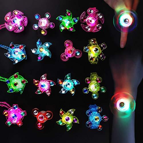 Balhvit 18 Pcs Glow in The Dark Party Supplies, Nontoxic & Safe Led Party Favors for Kids Prize