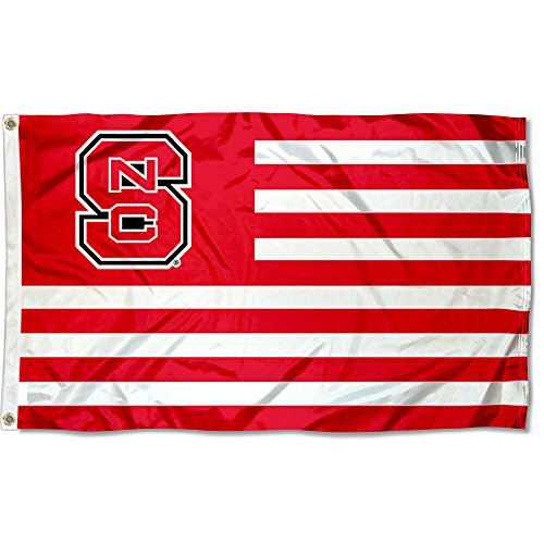 North Carolina State Wolfpack Stars and Stripes Nation Flag