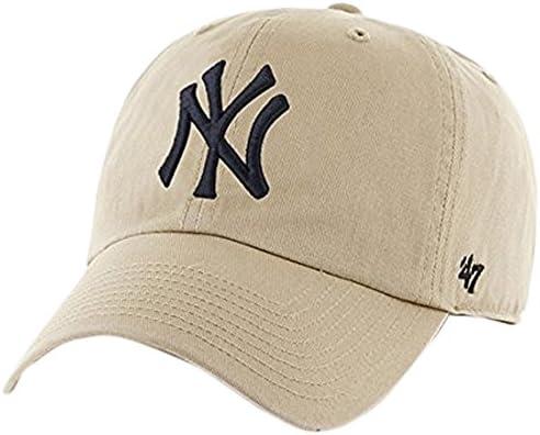 '47 New York Yankees Brand MLB Clean Up Adjustable Hat - Khaki