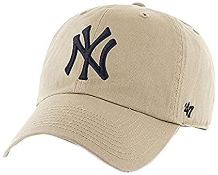 Amazon.com : MLB New York Yankees Mens 47 Brand Clean Up Cap, Khaki, One-Size : Sports Fan Baseball Caps : Sports & Outdoors