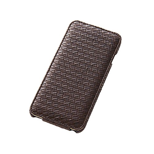 Flap Type Leather Mesh Style Jacket for iPhone 6 Plus (Dark Brown)