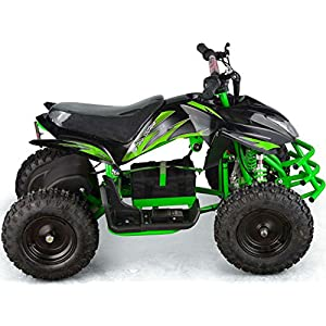 Outdoor Kids Children Titan 24V Black Mini Quad ATV Dirt Motor Bike Electric Battery Powered