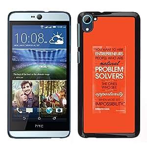 Resolución de problemas Emprendedor de Orange- Metal de aluminio y de plástico duro Caja del teléfono - Negro - HTC Desire D826