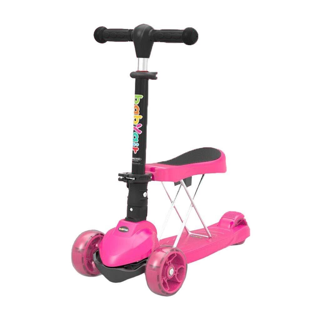 【同梱不可】 スクーターを蹴る子供たち 折りたたみクールスクーター、自転車3輪スイング車 (色 (色 : : ピンク) ピンク) B07R5Y8ZHX ピンク, ロックセンター:08b6f69a --- 4x4.lt