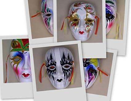 Assortment Of 6 Colorful Porcelain Wall Decor Beauty Masks SM  sc 1 st  Amazon.com & Amazon.com: Assortment Of 6 Colorful Porcelain Wall Decor Beauty ...