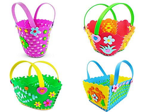 Einscraft Kids Sewing and Weaving Kit | Cute DIY Basket Craf