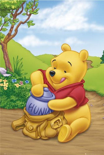 DISNEY WINNIE THE POOH POSTER - PACKING HUNNY - 24X36