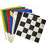 """Sports Flags Pennants Company Racing Flag Junior Set with 30"""" Poles"""