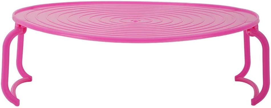 Yosooo Microwave Oven Shelf, Multifunctional Microwave Oven Heating Layered Steaming Tray Heavy Duty Steaming Rack Bowls Layered Holder Organizer Tool Kitchen Accessories(Pink)