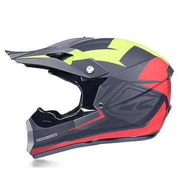 Amazon.es: Casco de motocross Casco de moto de cara abierta para ...