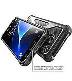 i-Blason Galaxy S7 Edge Case, Prime [Kickstand] Samsung Galaxy S7 Edge 2016 Release [Heavy Duty] [Dual Layer] Combo Holster Cover case with [Locking Belt Swivel Clip] (Black)