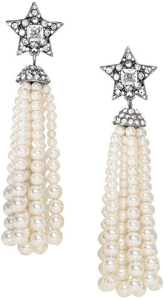 Pendientes De Mujer, Accesorios De Perlas Vintage, Colgantes Largos Con Borlas, Piedras Preciosas De Cristal, Perlas Artificiales De Primera Calidad, Pendientes De Niñas