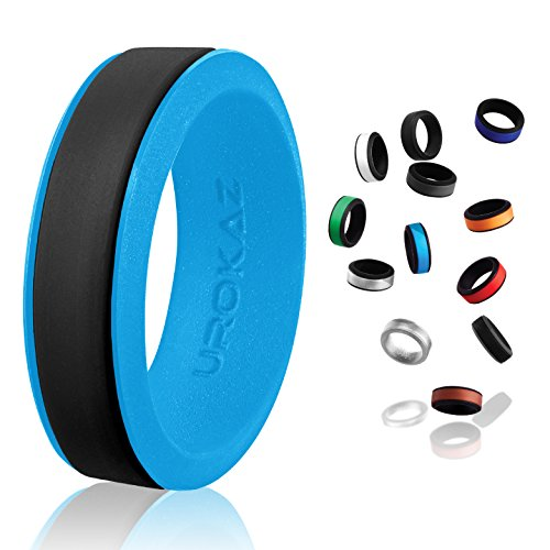 UROKAZ - Silicone Wedding Ring, The Only Ring that Fits Your Lifestyle - Whether You are Single or Married, UROKAZ Ring is Right for You - It is Fashionable, Flexible, and Comfortable - Edge Milgrain Wedding Ring