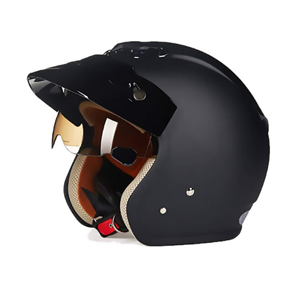 HYH ヴィンテージマットブラックABS大人自転車ヘルメット乗馬電気自動車オートバイヘルメット自転車マウンテンバイクヘルメット屋外乗馬機器 いい人生 (Size : L) Large  B07S9MHQNV