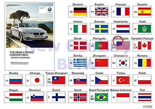 BMW Genuine Owner'S Manual For F33 Owner'S Manual For F33 Enus 428i 428iX 435i 435iX - Genuine Owners Manual