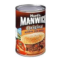 Hunt\'s Manwich Sloppy Joe Sauce, Original, 15 Ounce (Pack of 24)