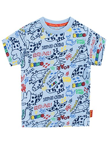 Peppa Pig Boys' George Pig T-Shirt Blue Size 6 -