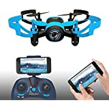 512V Mini Drone Quadcopter RC 2.4Ghz 6-Axis Gyro 4 Channels Helicopter With Camera,Headless Mode(Blue Bee)