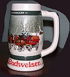 ANHEUSER BUSCH BUDWEISER HOLIDAY STEIN 1982 CS-57 CLYDESDALES 50th ANNIVERSARY