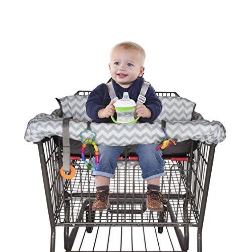 BabysDrive Shopping Cart Cover for Baby, with Cushion, High Chair Cover, Large Size, Loaded with Baby-Friendly Features, Fits All Shopping Carts