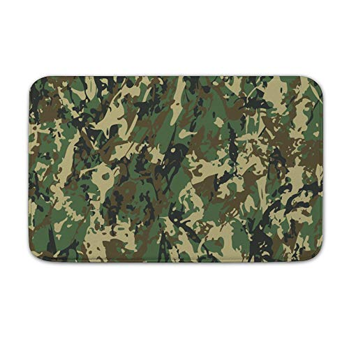 Uclipers Entrance Door Mat,20 x 32 inch Military Uniform Camouflage Tree Durable Large Heavy Duty Front Outdoor Rug, Non-Slip Welcome Doormat for Entry, Patio -