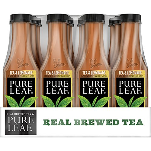 Pure Leaf Iced Tea, Tea and Lemonade, Real Brewed Black Tea, 18.5 Ounce Bottles (Pack of 12)