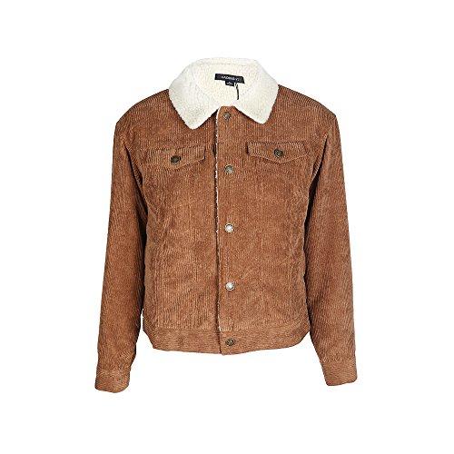HaoDuoYi Womens Fashion Faux Fur Collar Corduroy Coat Winter Jacket(XXL) by HaoDuoYi (Image #5)
