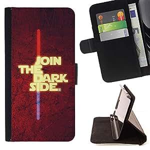 - Join The Dark Side/ Personalizada del estilo del dise???¡¯???¡Ào de la PU Caso de encargo del cuero del tir???¡¯????n del s - Cao - For Sony Xperia Z3 D