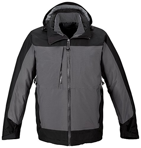 Ash City North End Mens 3-In-1 Seam-Sealed With Insulated Liner 88663 -Black 703 2XL by Ash City