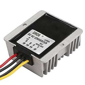 DROK® Impermeable de alimentación DC-DC Boost convertidor 12V a 48V 5A 240W Step-up voltios Regulador Módulo de Adaptador Convertidor de fuente de alimentación de alimentación de coche