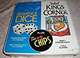 : Kings in the Corner & Sequence Dice game & The Game of Chips