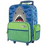 kid suitcase - Stephen Joseph Classic Rolling Luggage, Shark