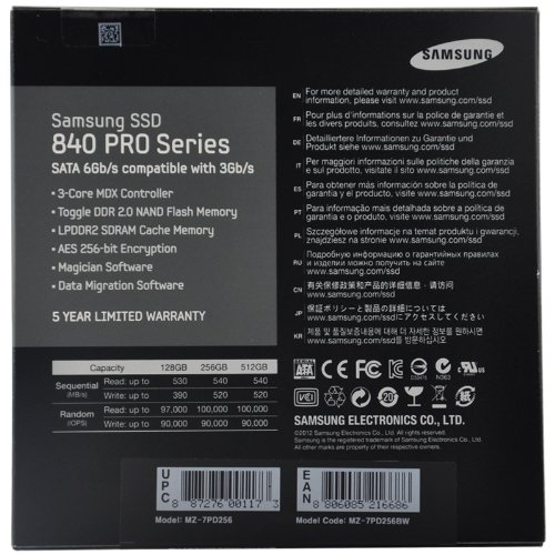 Samsung Electronics 840 Pro Series 2.5-Inch Solid State Drive, 256GB