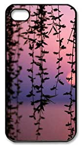 case mate iphone 4S cover Landscapes Dusk Branches PC Black for Apple iPhone 4/4S