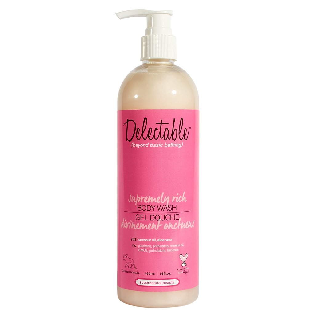 Delectable by Cake Beauty Supremely Rich Body Wash, Strawberry and Cream, 16 fl. oz. Cake Beauty Inc.