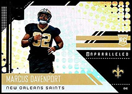 2018 Unparalleled NFL  299 Marcus Davenport RC Rookie New Orleans Saints  Rookie Panini Football Trading 1517978b5