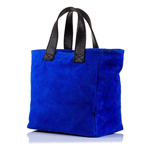 24x23 IN 5x14 cm TOTE Azul purpurina ITALY Bolso ARTEGIANI con ITALIANA VERA MADE diseño PELLE extrella cuero mujer Color piel FIRENZE de auténtica genuino GAMUZA Acabado CUERO Bolso exclusivo g4AUw0S