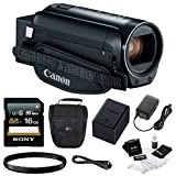 Canon VIXIA HF R80 Camcorder with 16GB SDHC card + 43mm filter + Camcorder Bag & Essentials Bundle