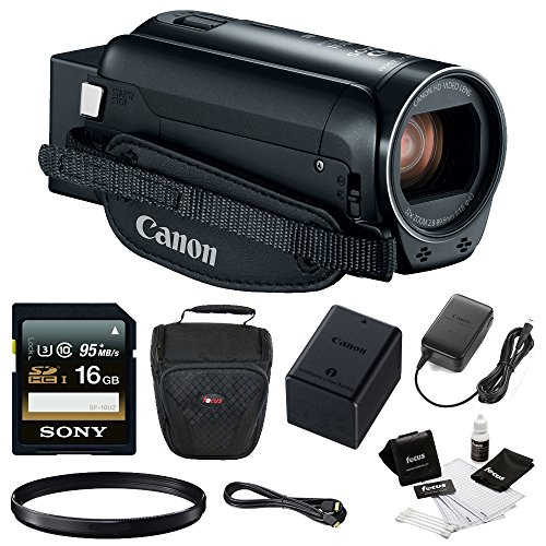 Canon VIXIA HF R80 Camcorder with 16GB SDHC card + 43mm filter + Camcorder Bag & Essentials Bundle by Canon