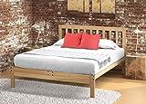 Charleston-2 Platform Bed Frame - Solid Hardwood (XL-Twin-PLUS)