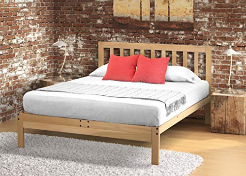 Charleston Platform Bed - Queen (Bedroom Oak Bed Frame)