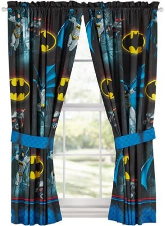 Amazon Com Batman Safe Again Boys Bedroom Curtains Kitchen Dining